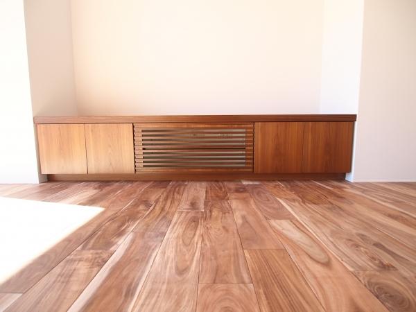 TVボード チーク厚突き板